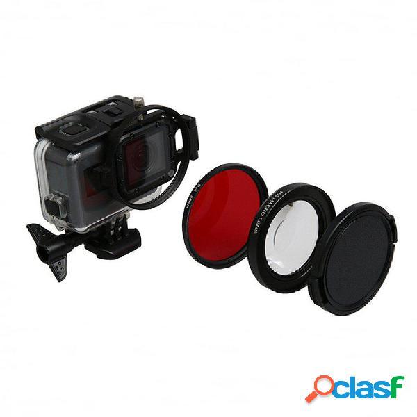 58mm 16x Magnifier Macro Red fotografica lente Anello