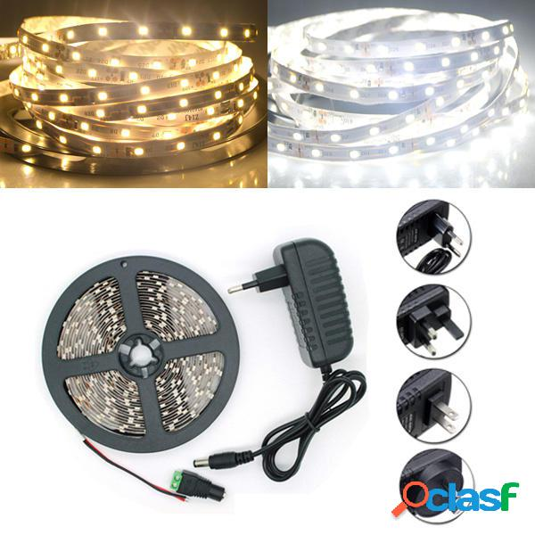 5M SMD 2835 300 LED Bianco/Bianco Caldo Nastro Luce Striscia