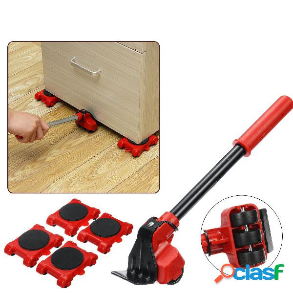 5Pcs Furniture Movers Lifter Transport Tool Set Sistema di