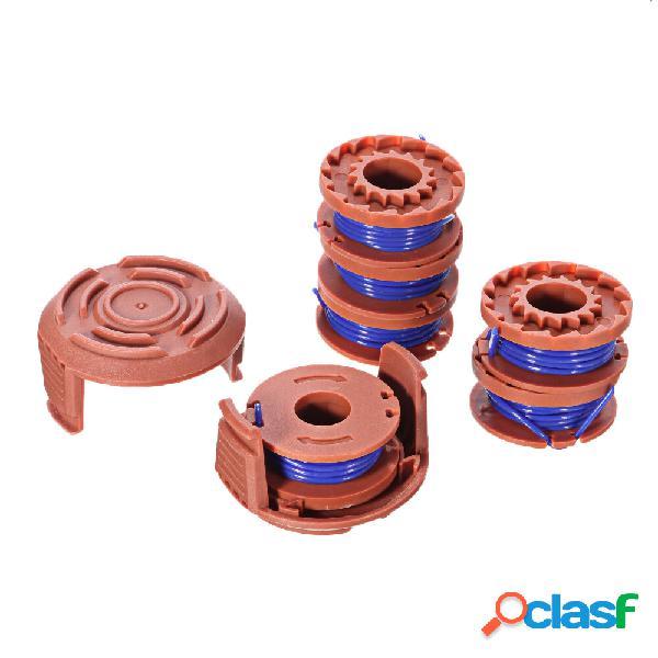 6 + 2 corde Trimmer Sostituzione bobina per WORX WA0010 10ft