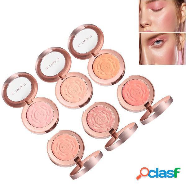 6 Colori Rosa Trucco Face Blush Brighten Face Fine Powder