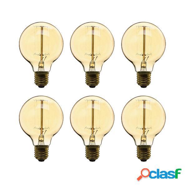 6 pz dimmerabile AC220V G80 E27 40 W bianco caldo lampadine