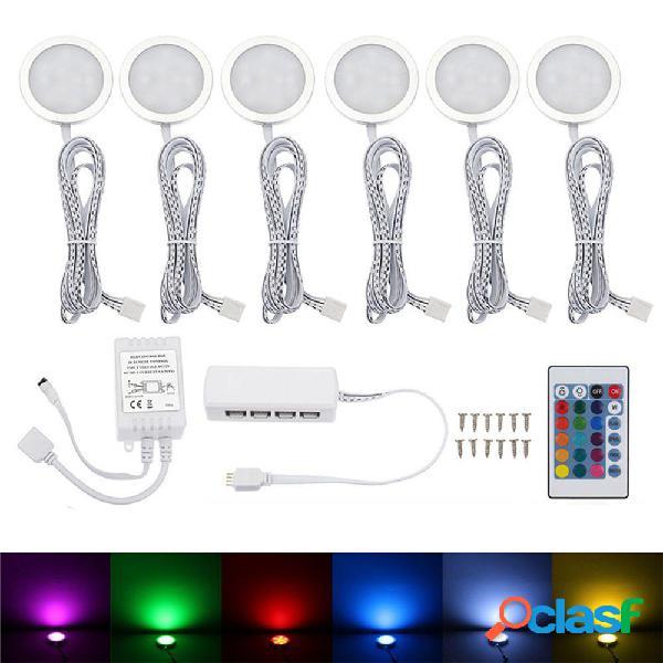 6PCS RV RGB LED Plafoniera per auto Dome Luce interna sotto
