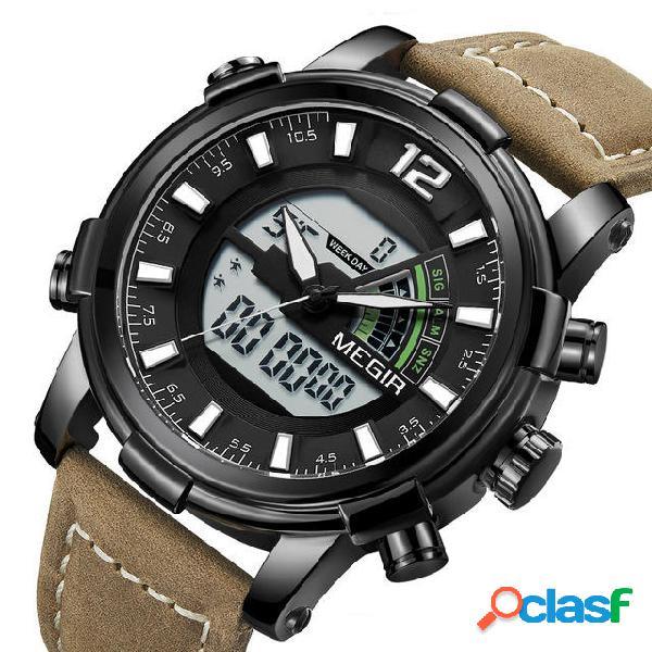 739.424 2089 Military Sport Style LED Cronografo Luminoso