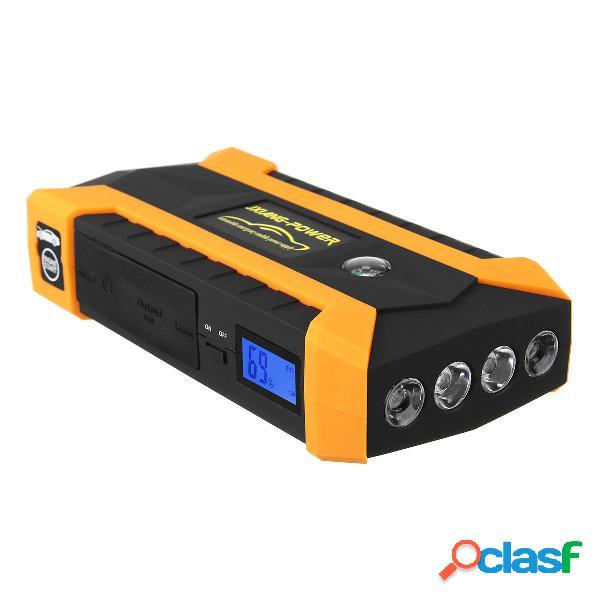 89800mAh LED Avviatore Jump Starter da Auto 4 USB