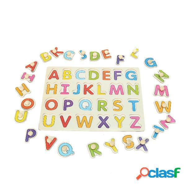 Alfabeto abc puzzle di legno di puzzle bambini del