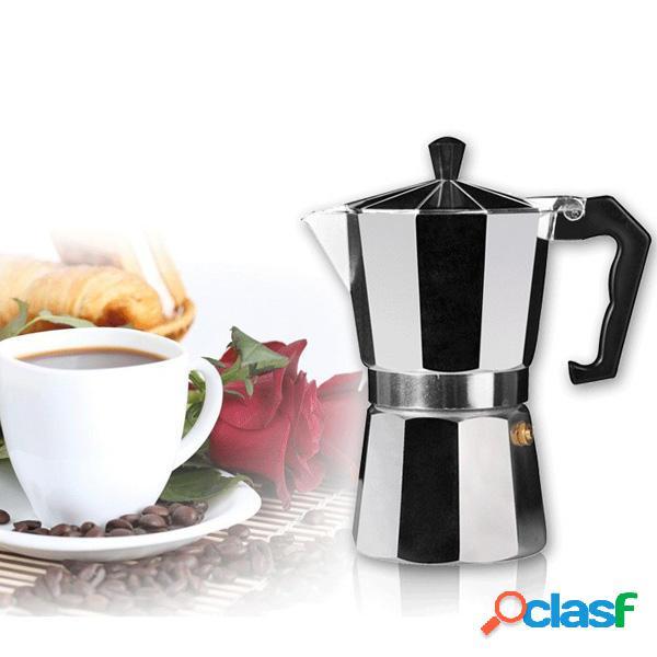 Alluminio moka espresso Latte stufa caffettiera percolatori