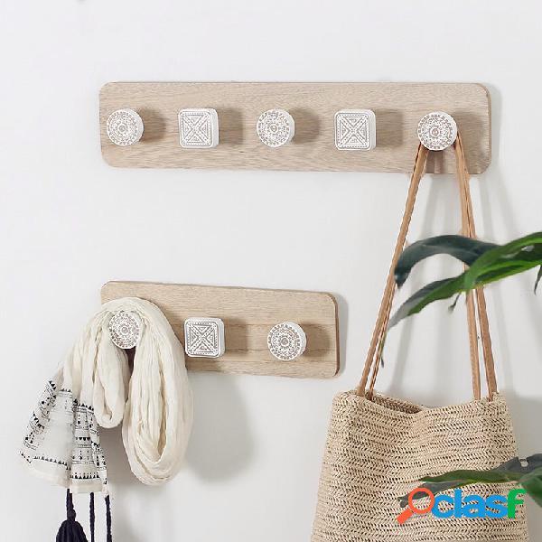 Appendiabiti a parete in legno Gancio Appendiabiti