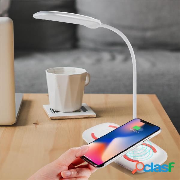 Bakeey Pieghevole LED Desk lampada 5V 3A Qi Caricatore di