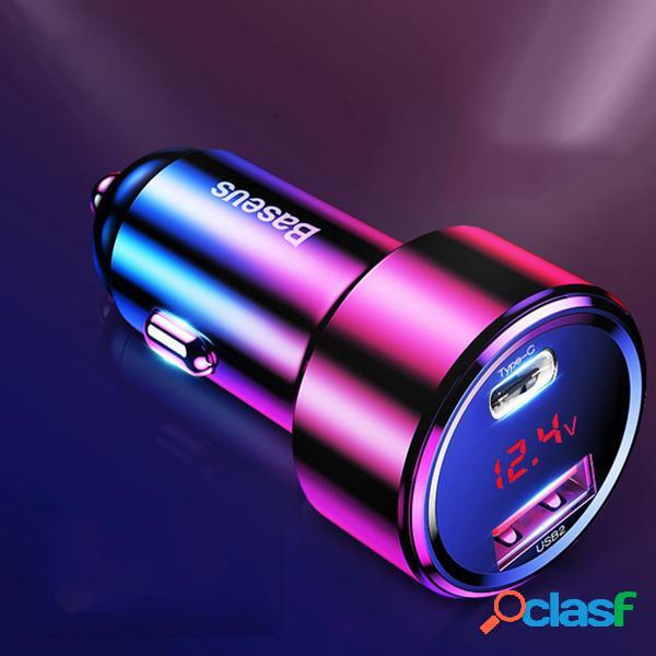 Baseus 45W Quick Charge 4.0 3.0 Caricabatteria da auto Dual