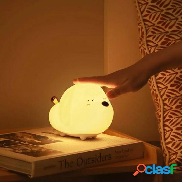 Baseus Carino LED Lampada da notte Soft Silicone Lampada da