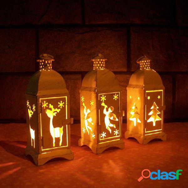 Candelabro in ferro battuto di vetro europeo del Marocco.