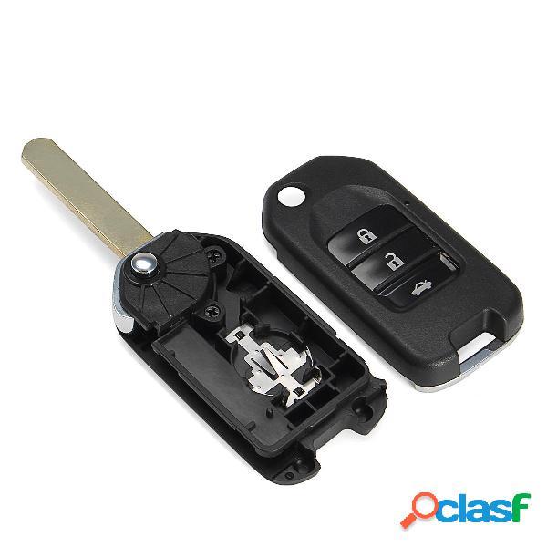 Car 3 Button remoto Fold Chiave Fob Custodia / borsa Flip
