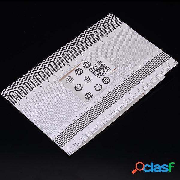 Cartellino pieghevole lente Strumento per test di messa a