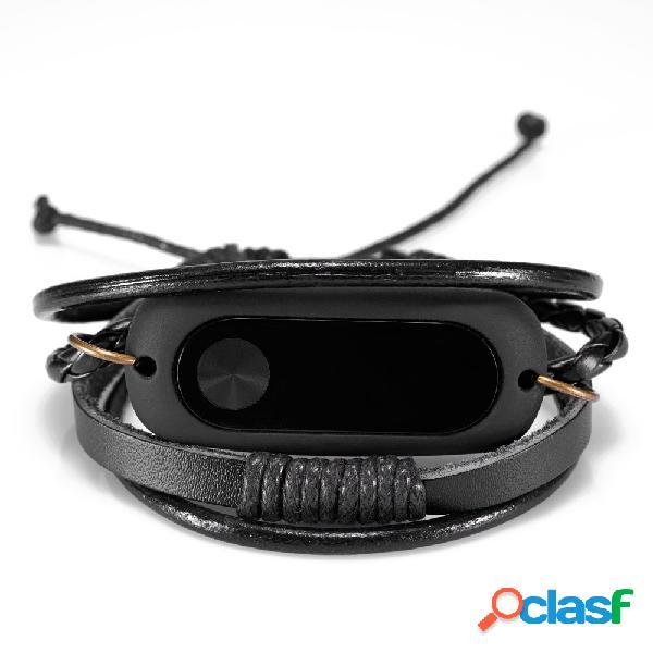 Cinturino da polso per il braccialetto in pelle per Xiaomi