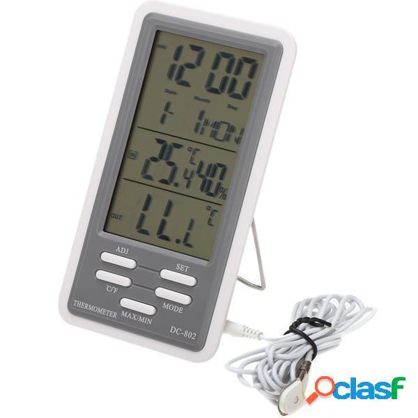 DC-802 lcd termometro digitale igrometro di umidità di