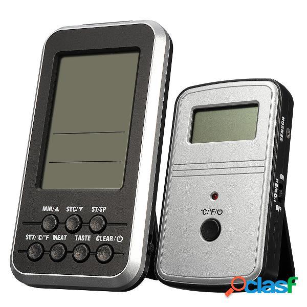 Digitale LCD Wireless remoto Termometro Per carne BBQ Grill