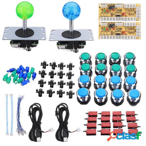 Dual Player Arcade Kit fai da te Game Controller Joystick