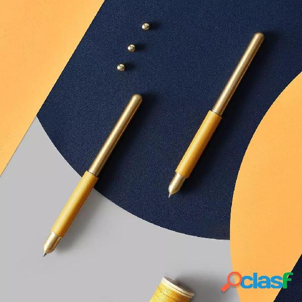 EY-PRODUCTS Penna per segnatura in ottone in pelle di mucca
