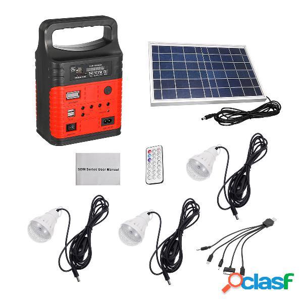 Emergenza 7500mAh LED MP3 FM solare Pannello Power Lighting