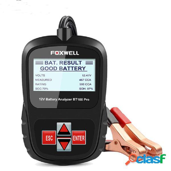 FOXWELL BT100 PRO 6 V 12V Auto Batteria Analizzatore Tester