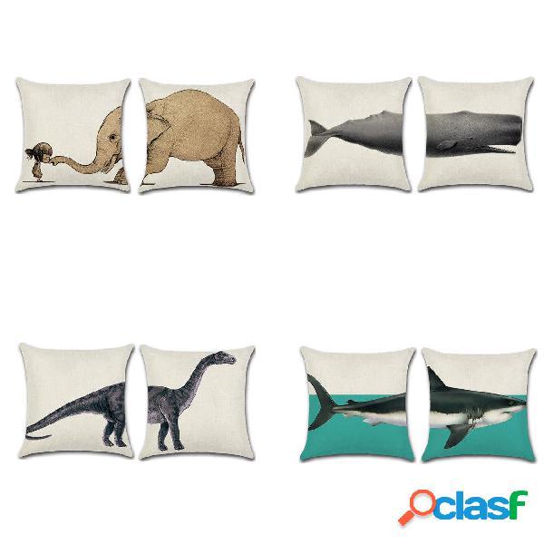 Fodera per cuscino in cotone e lino Cuscino per cuscino in