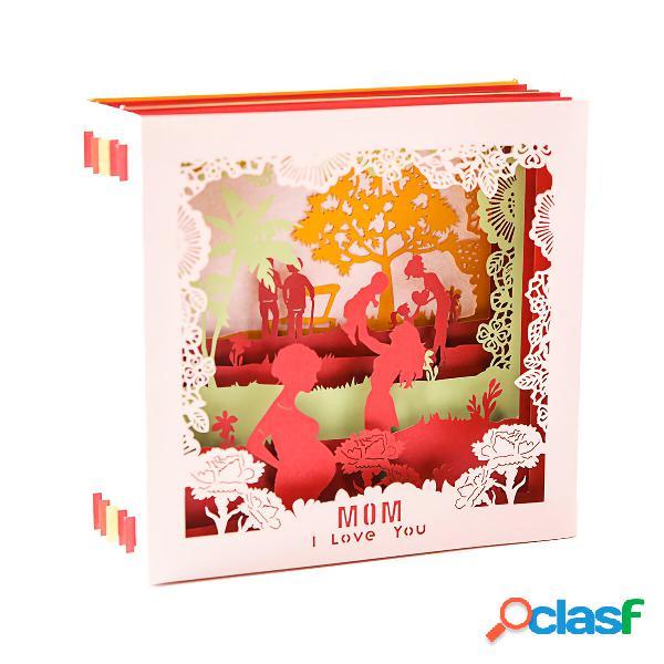 G2060W Creativo 3D Festa della mamma Biglietti dauguri