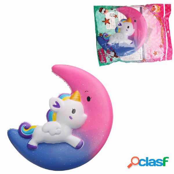 Galaxy Squishy Unicorn Moon Slow Rising With Packaging