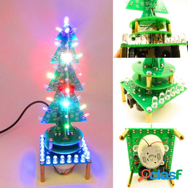 Geekcreit® DIY rotante Colorful Albero di Natale musicale