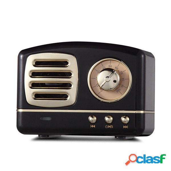 HIFI Mini Retro Wireless Bluetooth Altoparlante portatile FM