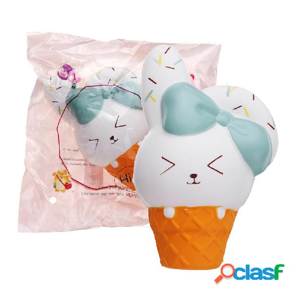 Ice Cream Rabbit Squishy Animal Slow Rising Soft Giocattolo