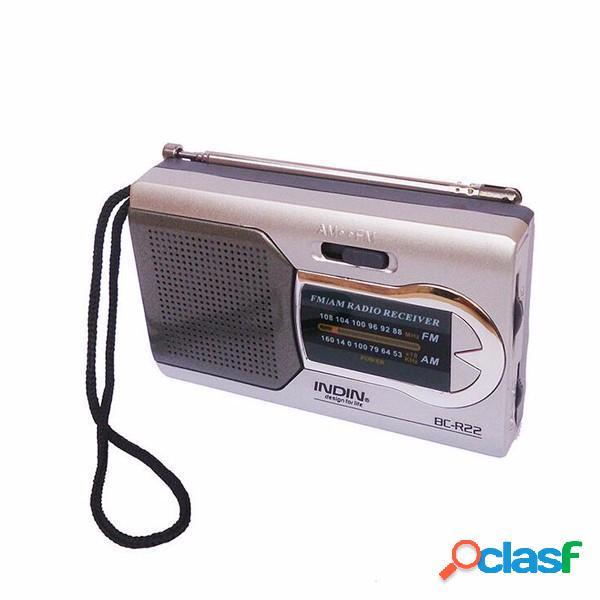Indin BC-R22 Sottile AM / FM Mini Portable World ricevitore