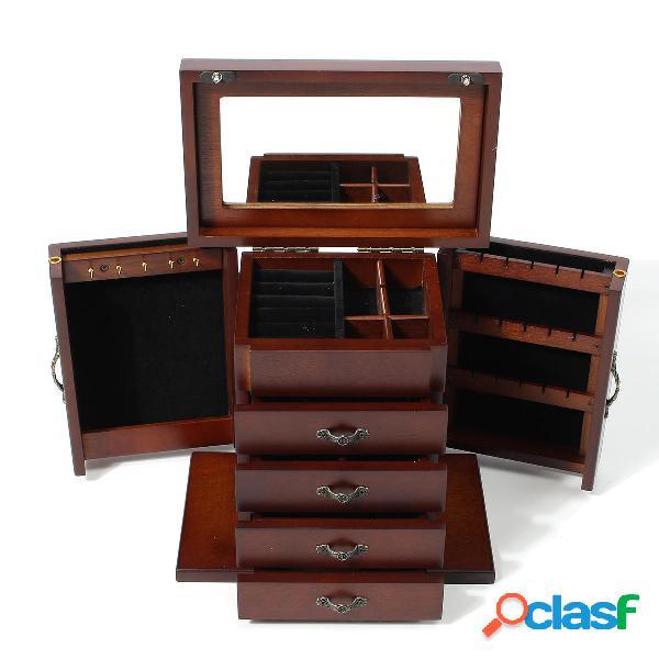 Jewellry di legno Scatola Organizzatore Archiviazione per