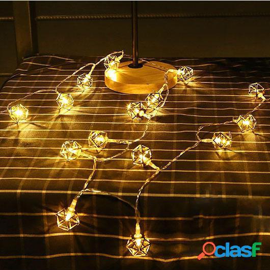 KCASA 10 LED Luci di stringa poligono in metallo LED Luci di
