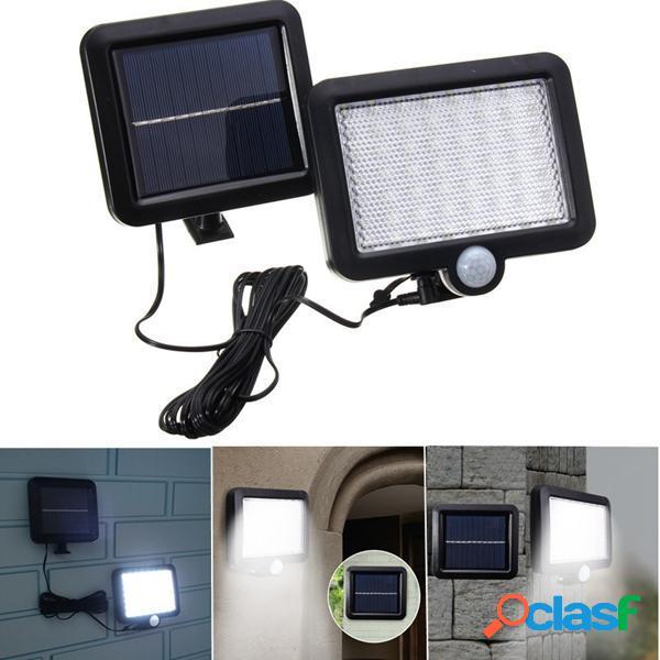 Lampada Bianca 56 LED PIR Sensore di Movimento da Parete per