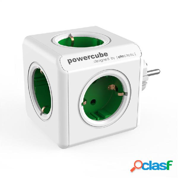 Loskii 110-250V 16A 5 EU Plug Cube presa di corrente Presa
