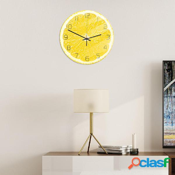 Loskii CC094 Creative Lemon Orologio da parete Orologio da