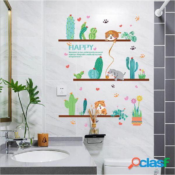 Adesivi murali piante in vaso per soggiorno camera 🥇 ...