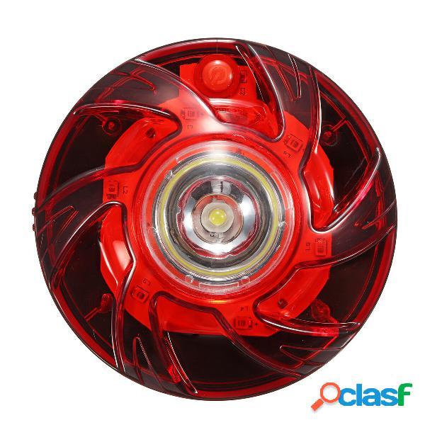Luce di emergenza a LED con fondo magnetico rosso e bianco 6