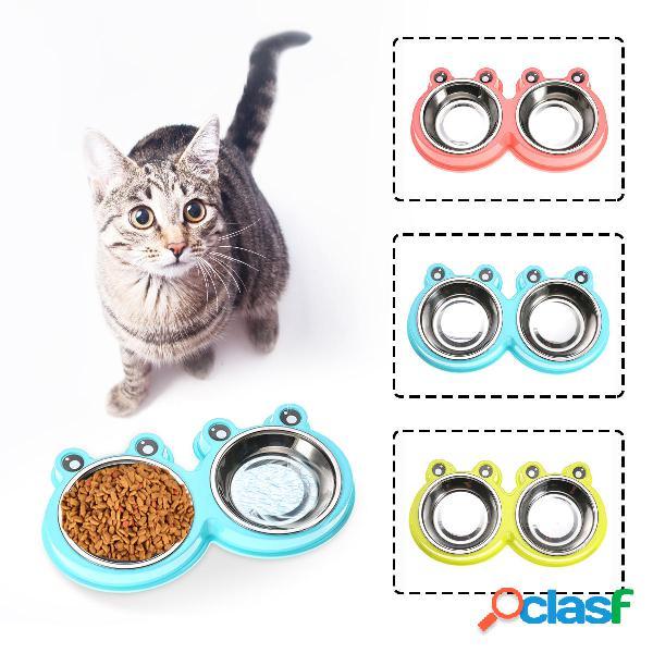 Mangiatoia per gatti in acciaio inossidabile per cani in