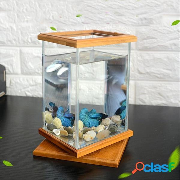 Mini Acquario LED Illuminazione per ufficio in vetro