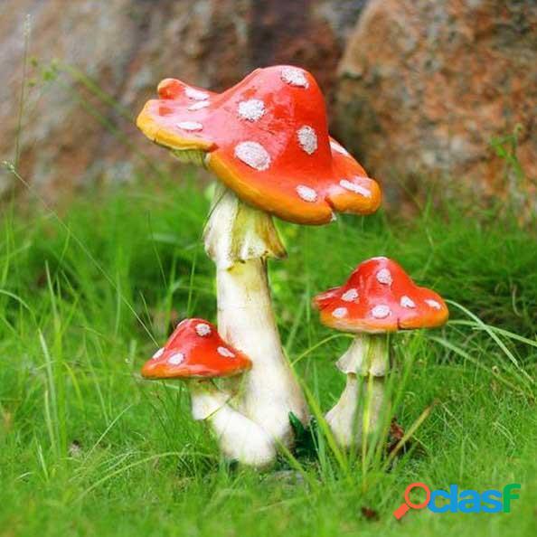 Mini resina paesaggio decorazione fungo ufficio giardino di