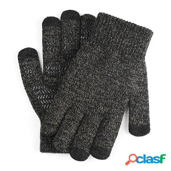 Moto Touch Screen Guanti Maglia invernale in lana calda