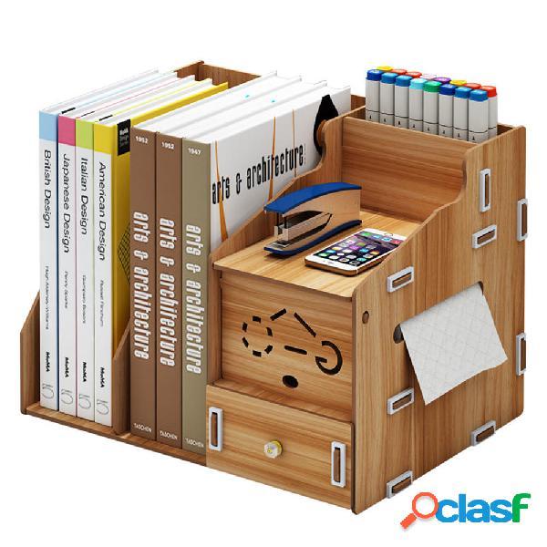 Multifunzione Desktop Organizzatore Portaoggetti in legno