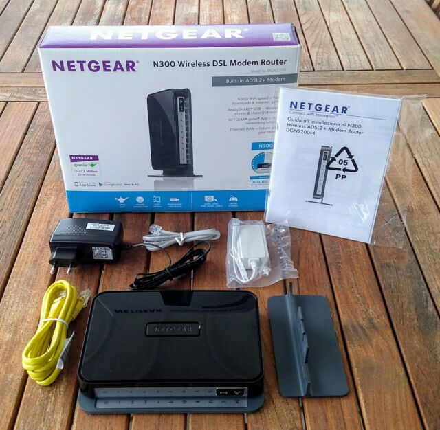 NETGEAR DGN v4 - Modem/router ADSL2+ N300 Wireless