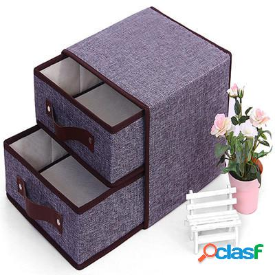 Non tessuto di cotone e canapa Desktop Organizzatore scatola