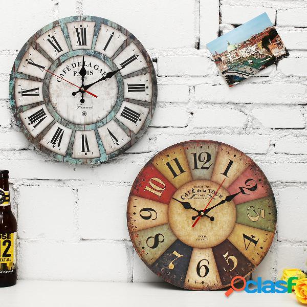 Orologio vintage rotondo 12 Pollici Orologio da parete per