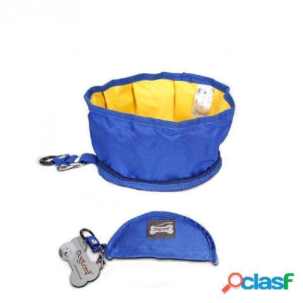 Pieghevole impermeabile Pet cane Ciotola portatile ciotola