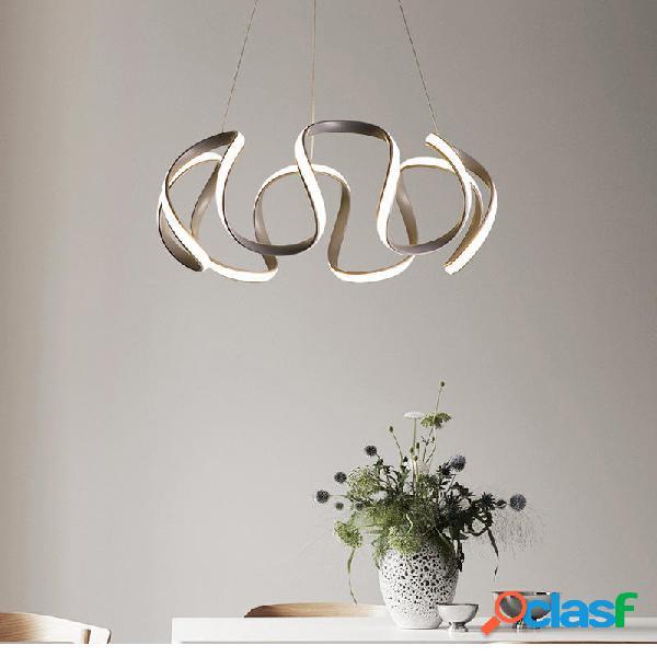 Plafoniera moderna a LED in cristallo con pendente a
