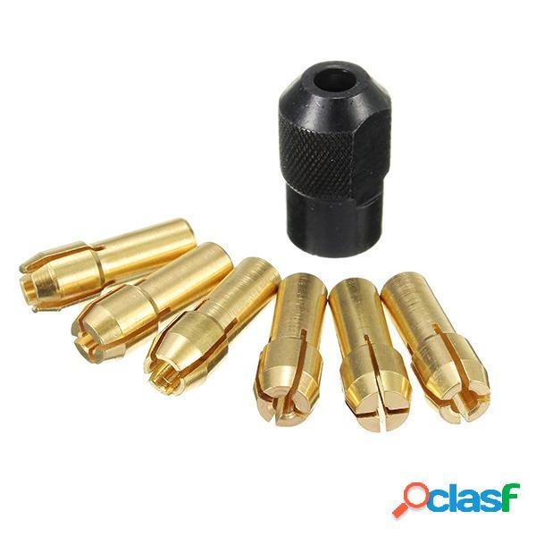 Punte di trapano in ottone da 6mm 1mm-3mm con dado nero